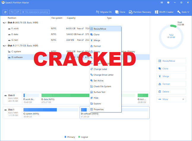 easeus partition master cracked
